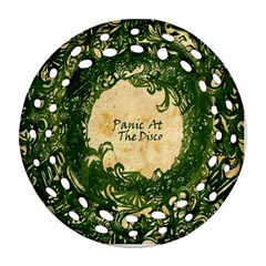Panic At The Disco Ornament (round Filigree)  by Onesevenart