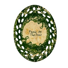 Panic At The Disco Oval Filigree Ornament (2 Side)  by Onesevenart