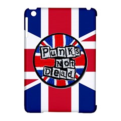 Punk Not Dead Music Rock Uk United Kingdom Flag Apple Ipad Mini Hardshell Case (compatible With Smart Cover) by Onesevenart