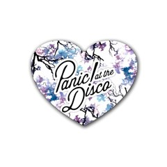 Panic! At The Disco Heart Coaster (4 Pack)  by Onesevenart