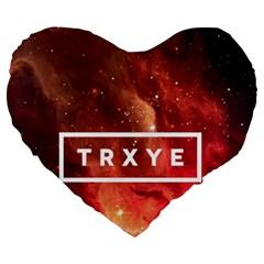 Trxye Galaxy Nebula Large 19  Premium Heart Shape Cushions by Onesevenart