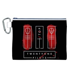 Twenty One Pilots Canvas Cosmetic Bag (l) by Onesevenart