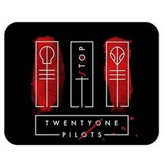 Twenty One Pilots Double Sided Flano Blanket (medium)  by Onesevenart
