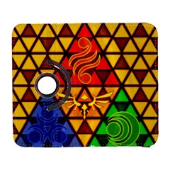 The Triforce Stained Glass Samsung Galaxy S  Iii Flip 360 Case by Onesevenart