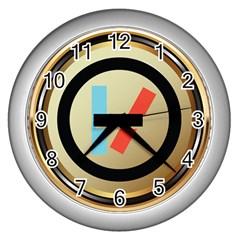 Twenty One Pilots Shield Wall Clocks (silver)  by Onesevenart