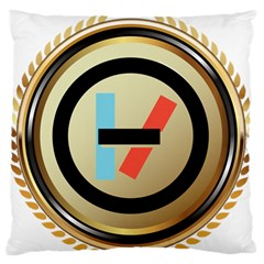 Twenty One Pilots Shield Large Flano Cushion Case (two Sides) by Onesevenart