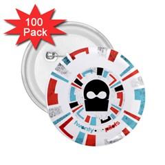 Twenty One Pilots 2 25  Buttons (100 Pack)  by Onesevenart