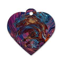 Voodoo Child Jimi Hendrix Dog Tag Heart (one Side) by Onesevenart