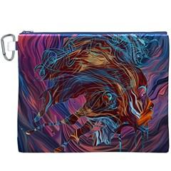 Voodoo Child Jimi Hendrix Canvas Cosmetic Bag (xxxl) by Onesevenart