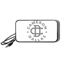 Cameron Dallas Portable Speaker (Black)  by Onesevenart