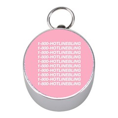 1 800 Hotline Bling Mini Silver Compasses by Onesevenart