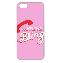 Hotline Bling Apple Seamless Iphone 5 Case (clear) by Onesevenart