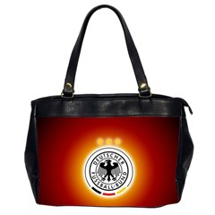Deutschland Logos Football Not Soccer Germany National Team Nationalmannschaft Office Handbags (2 Sides)  by Onesevenart