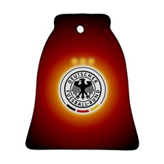 Deutschland Logos Football Not Soccer Germany National Team Nationalmannschaft Bell Ornament (2 Sides) by Onesevenart