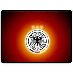 Deutschland Logos Football Not Soccer Germany National Team Nationalmannschaft Double Sided Fleece Blanket (large)  by Onesevenart