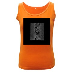 Grayscale Joy Division Graph Unknown Pleasures Women s Dark Tank Top by Onesevenart
