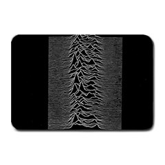 Grayscale Joy Division Graph Unknown Pleasures Plate Mats by Onesevenart
