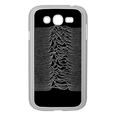 Grayscale Joy Division Graph Unknown Pleasures Samsung Galaxy Grand Duos I9082 Case (white) by Onesevenart
