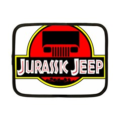 Jurassic Jeep Park Netbook Case (small)  by Onesevenart