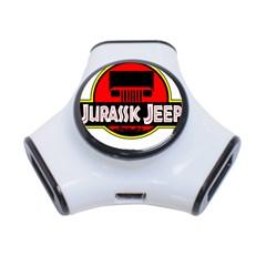 Jurassic Jeep Park 3-Port USB Hub by Onesevenart