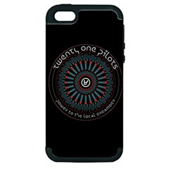 Twenty One Pilots Power To The Local Dreamder Apple Iphone 5 Hardshell Case (pc+silicone) by Onesevenart