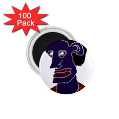 Man Portrait Caricature 1 75  Magnets (100 Pack)  by dflcprints