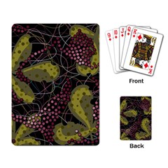 Abstract Garden Playing Card by Valentinaart