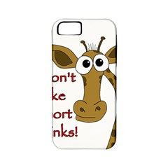Giraffe Joke Apple Iphone 5 Classic Hardshell Case (pc+silicone) by Valentinaart