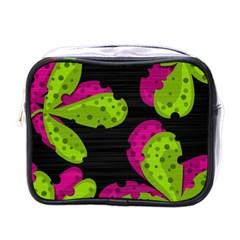 Decorative Leafs  Mini Toiletries Bags by Valentinaart