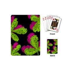 Decorative Leafs  Playing Cards (mini)  by Valentinaart