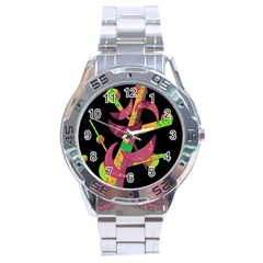 Moon Tree Stainless Steel Analogue Watch by Valentinaart