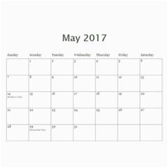 Christenson 2017 By Heather   Wall Calendar 11  X 8 5  (12 Months)   Hawwq7hd3jto   Www Artscow Com May 2017