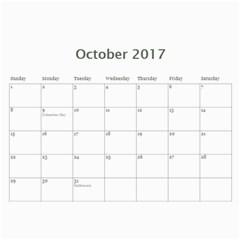 Christenson 2017 By Heather   Wall Calendar 11  X 8 5  (12 Months)   Hawwq7hd3jto   Www Artscow Com Oct 2017