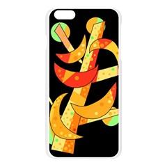 Orange moon tree Apple Seamless iPhone 6 Plus/6S Plus Case (Transparent) by Valentinaart