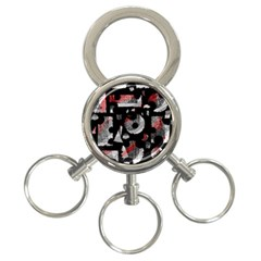 Red Shadows 3 Ring Key Chains by Valentinaart