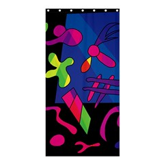Colorful Shapes Shower Curtain 36  X 72  (stall)  by Valentinaart