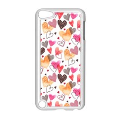 Colorful Cute Hearts Pattern Apple Ipod Touch 5 Case (white) by TastefulDesigns