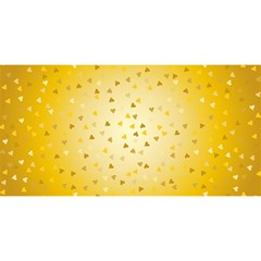 Gold Hearts Pattern You Are Invited 3d Greeting Card (8x4) by theimagezone