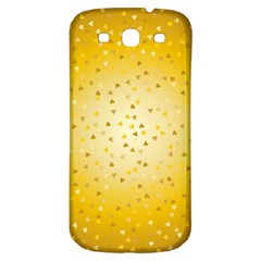 Gold Hearts Pattern Samsung Galaxy S3 S Iii Classic Hardshell Back Case by theimagezone