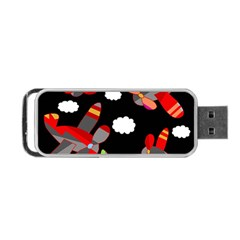 Playful Airplanes  Portable Usb Flash (two Sides) by Valentinaart