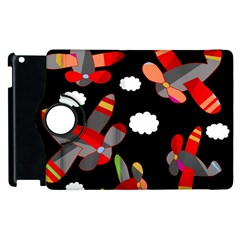 Playful Airplanes  Apple Ipad 3/4 Flip 360 Case by Valentinaart