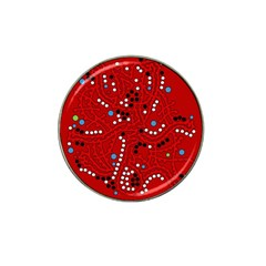 Red Fantasy Hat Clip Ball Marker (10 Pack) by Valentinaart