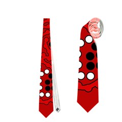 Red fantasy Neckties (Two Side)  by Valentinaart