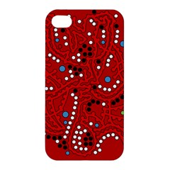 Red Fantasy Apple Iphone 4/4s Hardshell Case by Valentinaart