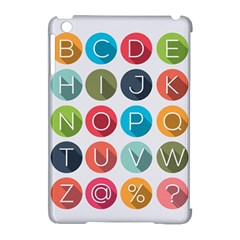 Alphabet Apple Ipad Mini Hardshell Case (compatible With Smart Cover) by AnjaniArt