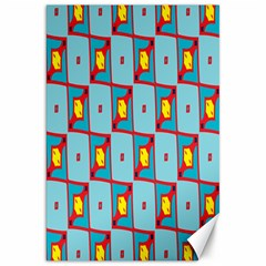 Shapes In Squares Pattern                                                                                                            			canvas 20  X 30  by LalyLauraFLM