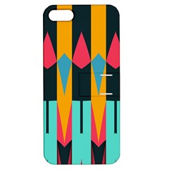 Shapes And Stripes                                                                                                            			apple Iphone 5 Hardshell Case With Stand by LalyLauraFLM