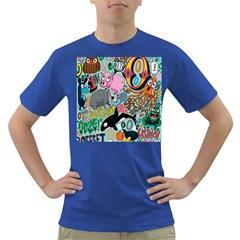 Alphabet Patterns Dark T Shirt by AnjaniArt