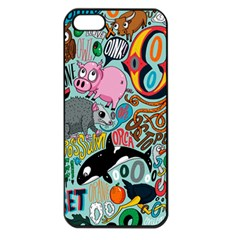 Alphabet Patterns Apple Iphone 5 Seamless Case (black) by AnjaniArt