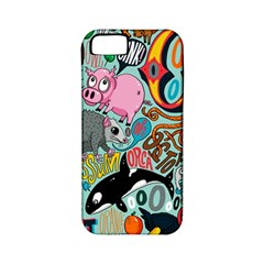 Alphabet Patterns Apple Iphone 5 Classic Hardshell Case (pc+silicone) by AnjaniArt